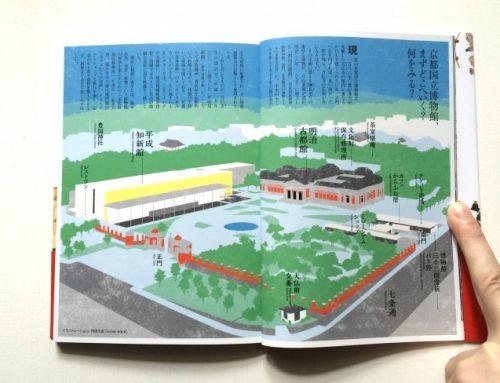 『京都で日本美術をみる 京都国立博物館』俯瞰図を描きました。